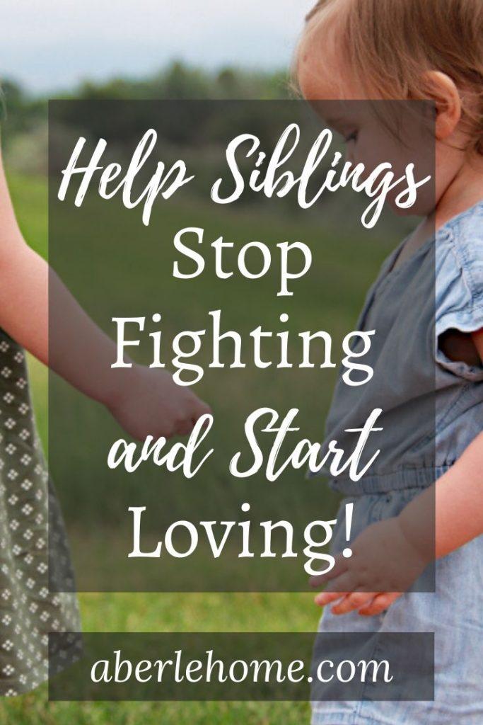 help siblings stop fighting pin image