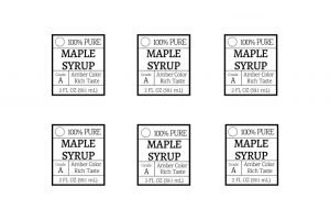 syrup tags