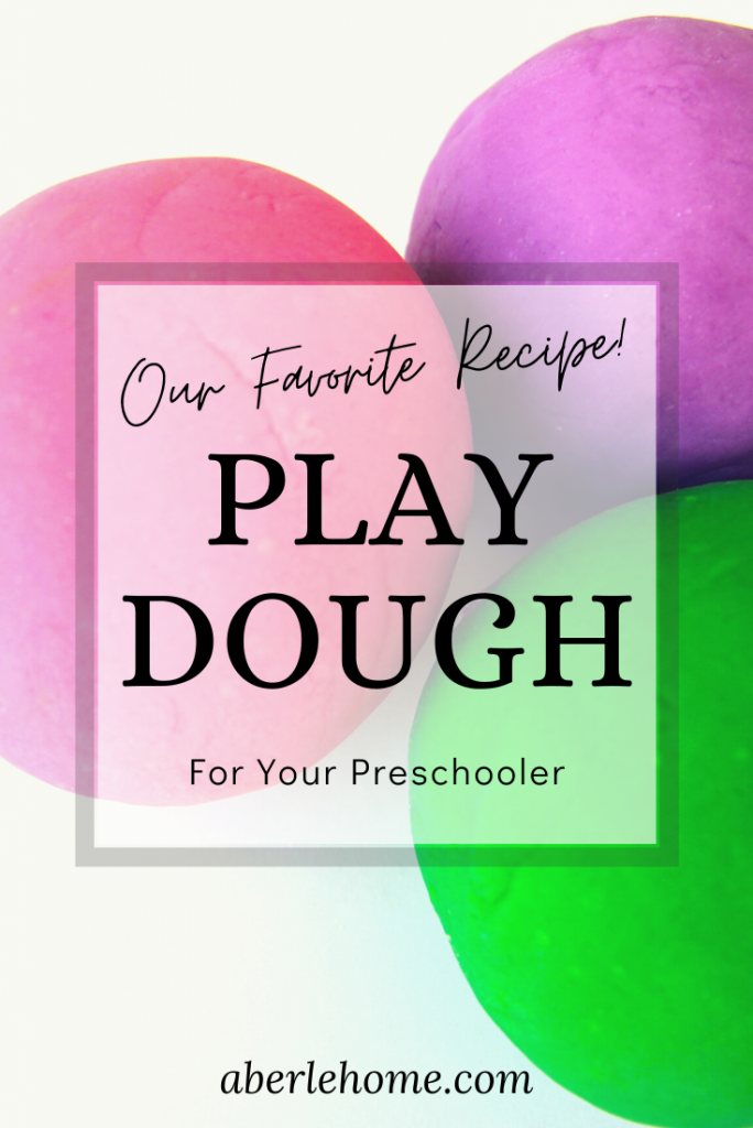 our favorite play dough recipe pin image