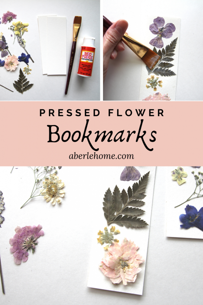 pressed flower bookmarks pin image