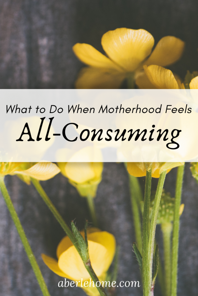 what to do when motherhood feels all-consuming pin image