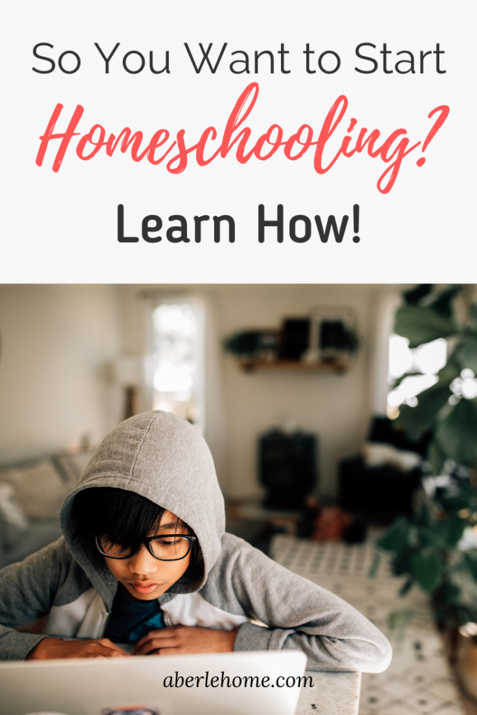 so you want to start homeschooling Pinterest image
