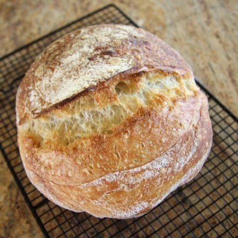 long fermented artisan sourdough bread