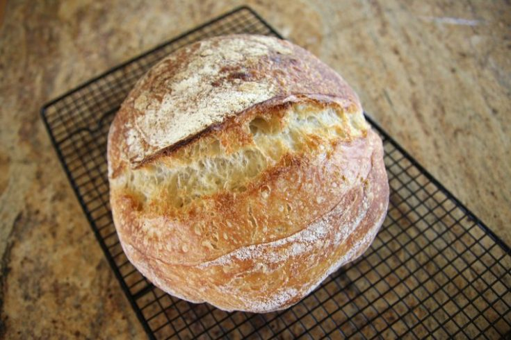 long fermented artisan sourdough bread