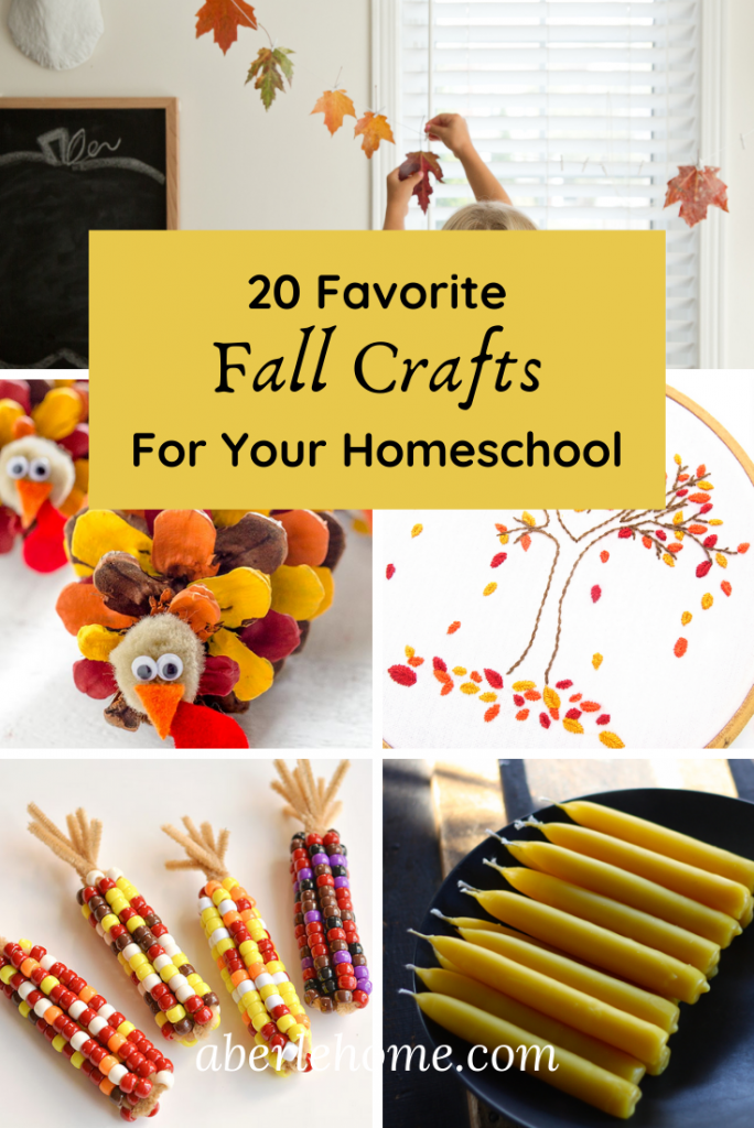Favorite Fall Crafts for Your Homeschool Pinterest Image