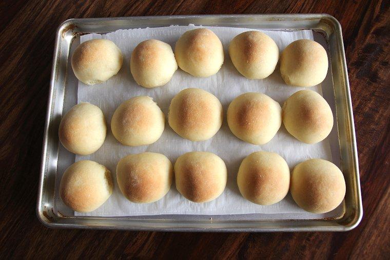 bake sourdough rolls until golden brown