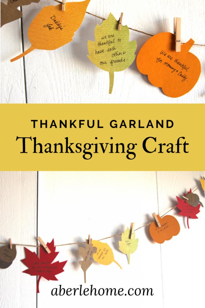 thankful garland thanksgiving craft pinterest image