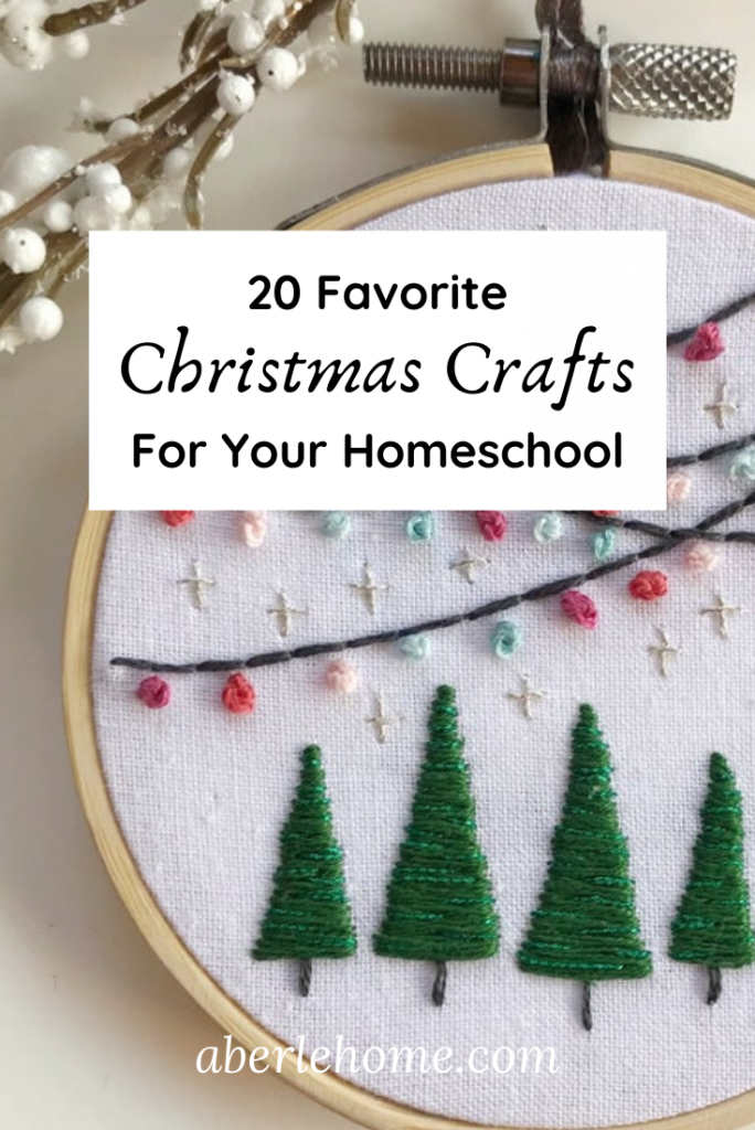 20 Favorite Christmas Crafts for Your Homeschool Pinterest Image