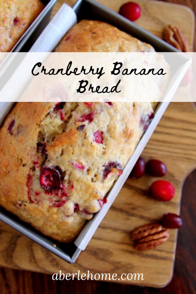 cranberry banana bread Pinterest image