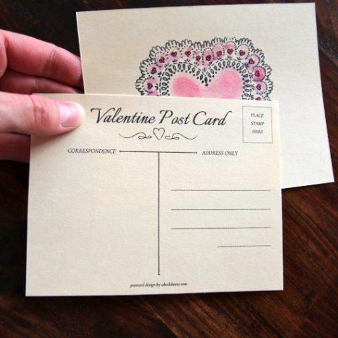 DIY Valentine Postcards for Kids