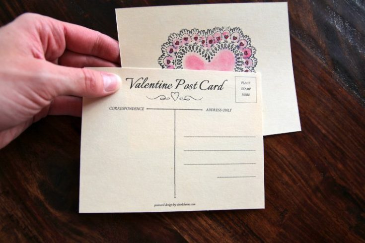 DIY Valentine Postcards for Kids