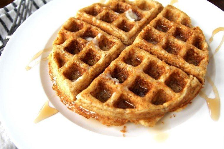 multigrain waffle on a plate