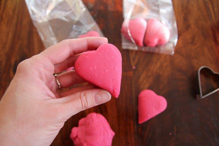 playdough shaped into a heart