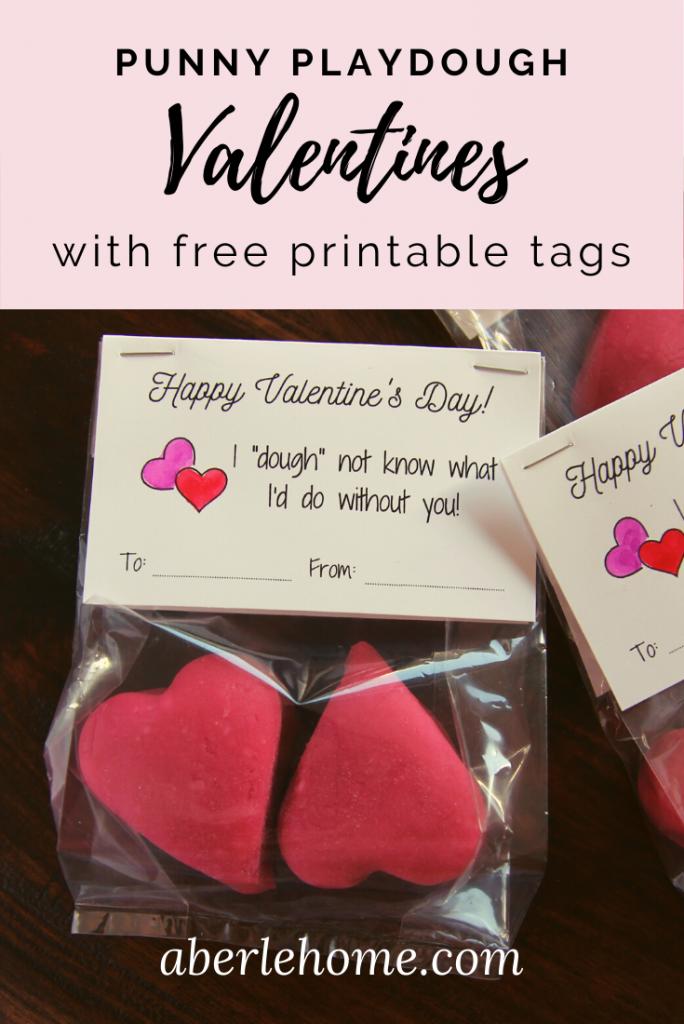punny playdough valentines for kids Pinterest image