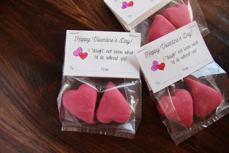 punny playdough valentines for kids
