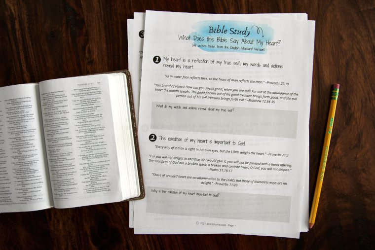 What Does the Bible Say About My Heart Bible Study for Kids