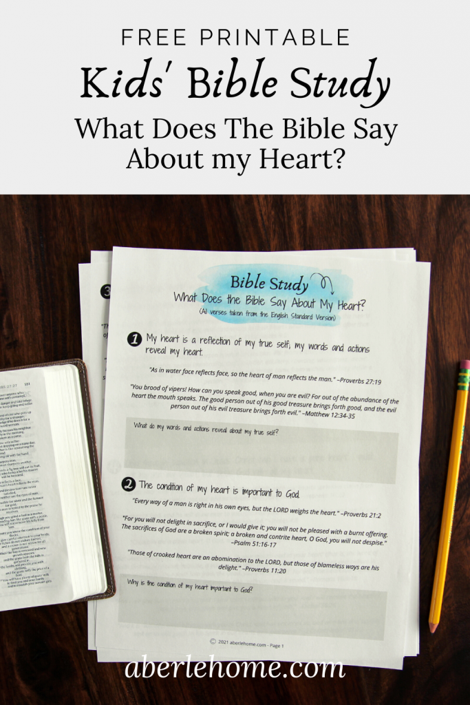 What Does the Bible Say About My Heart Pinterest image