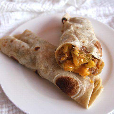 green chile breakfast burritos to freeze