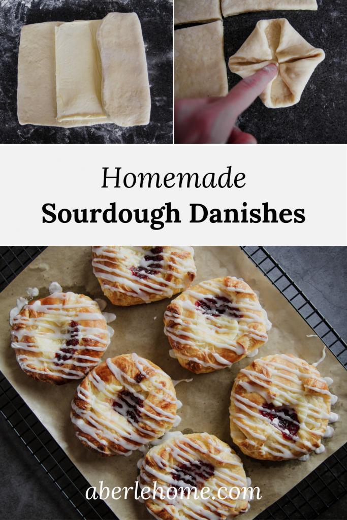 homemade sourdough danishes pinterest image