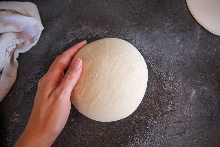 forming the dough into a nice smooth ball