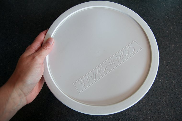 propping the lid over the bowl of dough